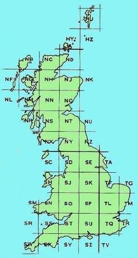 uk grid map